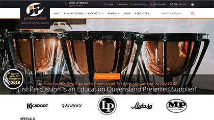 Just Percussion Website